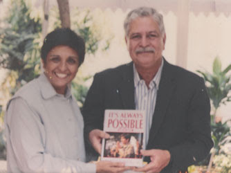 Kiran Bedi seen with husband Brij Bedi