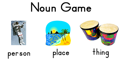 Parts of Speech Game - Noun, Verb and Adjective by Sara J Creations