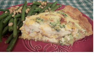 ... for bacon and cheddar quiche and i adapted it adding broccoli for