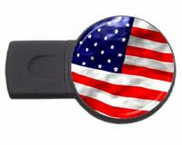 USA country symbol usb flash drive