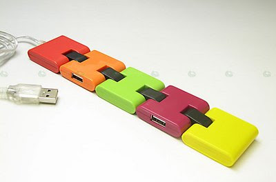 Caterpillar snake usb hub