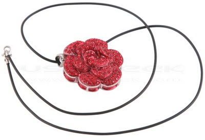 Gift Red Rose USB pendant 