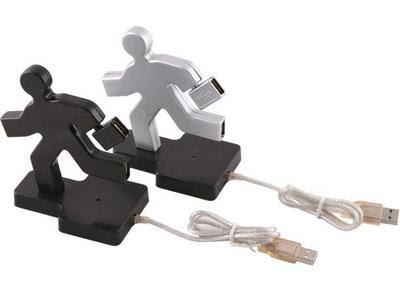 Runnimg man USB hub