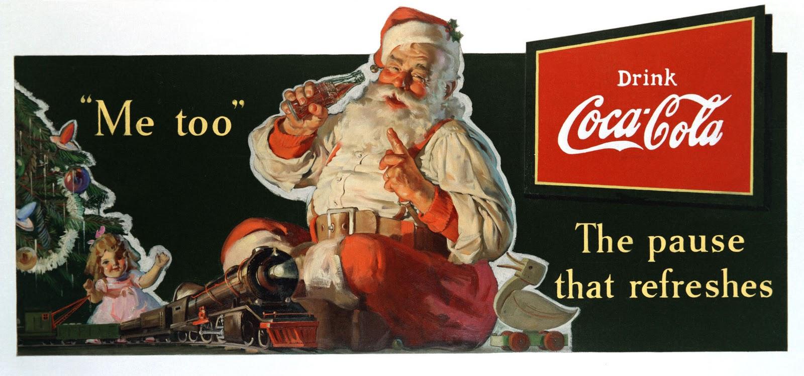Consider, that coca cola santa claus