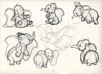 Disney cartoon drawings disney cartoon colour pencil drawing drawing - Bill Peet S Dumbo Disney Cartoons And Animation