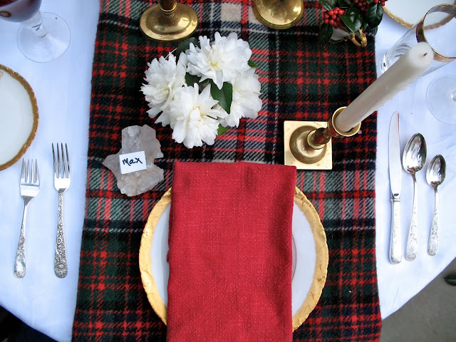 A THANKSGIVING TABLE IN TARTAN