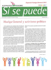 Boletín Especial sobre Huelga General 29-S.