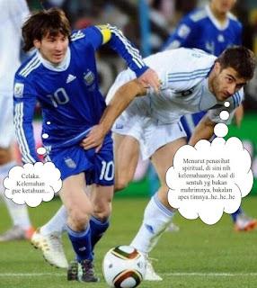 Foto-Foto Lucu dan Konyol Lionel Messi
