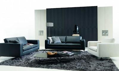 Furnitur-sofa-hitam-putih-di-Kamar-tamu-modern
