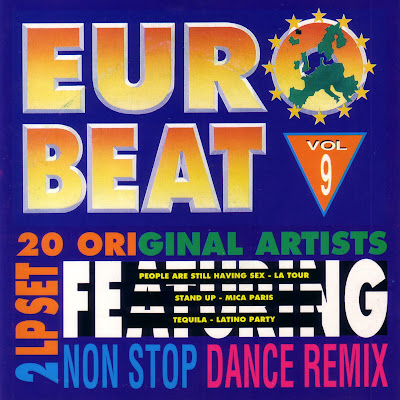 EUROBEAT - Volume 9 (90 Minute Non-Stop Dance Remix) (2LP Set) 1991 Various Artists Hi-NRG Italo Disco 80's Classic CD VERSION!