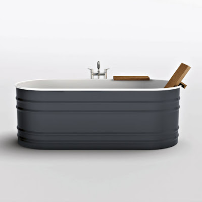 Trough Bathtub : unemployed and blogging: steel tub that looks like cattle trough