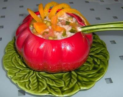 Orez cu legume ornamental