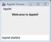sample java applet output