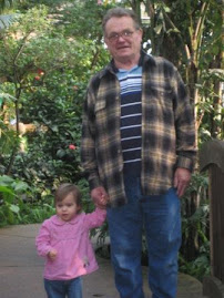 Grandpa and Savannah at Butterfly Pavillion