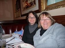 Enjoying dinner with Linda