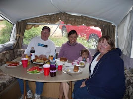 Our first lunch in the camper!