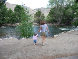 Taking a stroll with Aunt Lisa in Salida