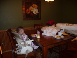 Mom, Savannah and Sophia's first meal together on our own...and it was a huge success!