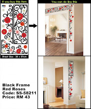 Black Frame Red Roses (SS-58211)