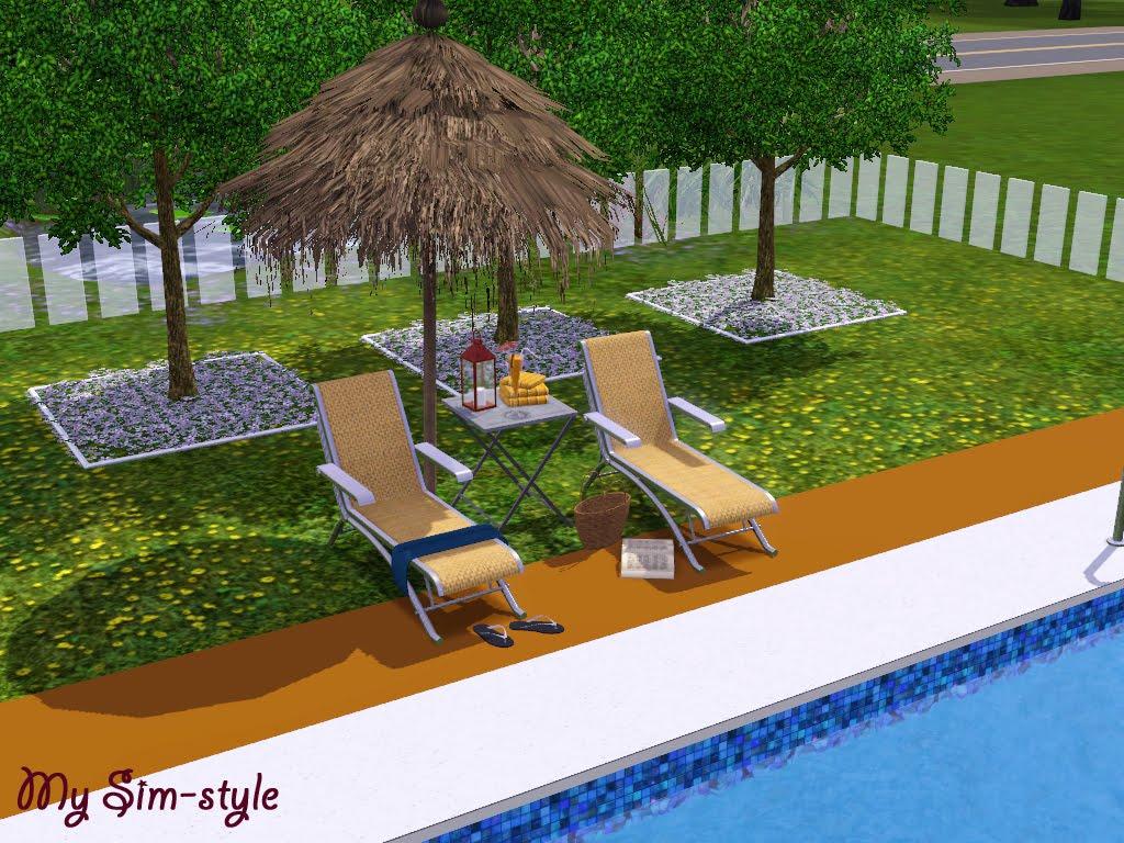 My sim style la piscina y las terrazas for Terrazas con piscinas