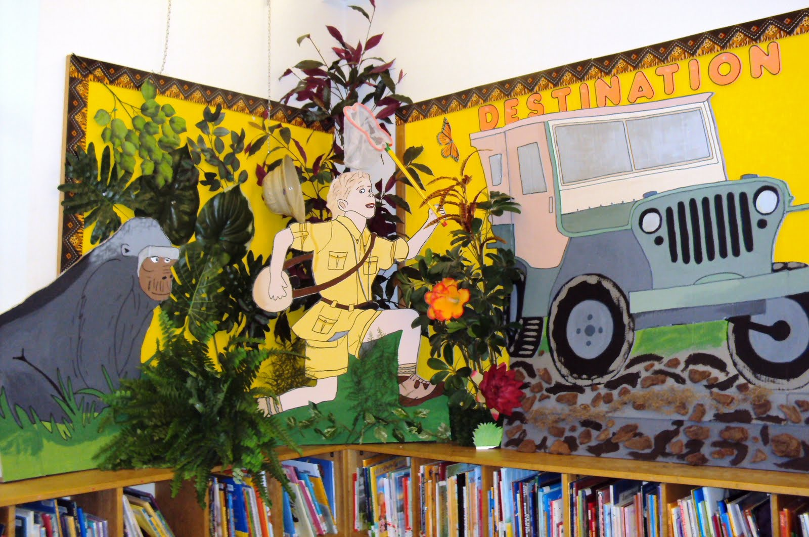 Library Displays: Destination Jungle