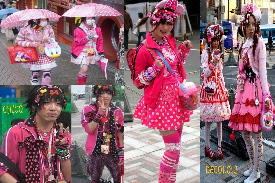 Dentro del estilo decora hay otros tipos como las decololi, una fusión entre la moda decora y la lolita, y decora con capa, suelen llevar varias capas y