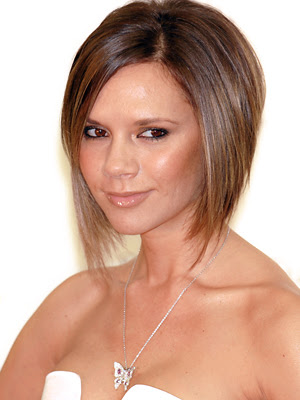 "Best Haircut of 2007 - Victoria ""Posh"" Beckham's bob (photo front back side"