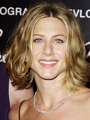Jennifer Aniston haircut. bob hairstyle with waves