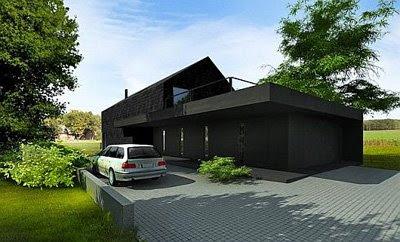 Home Design Black S-House 2 Residence