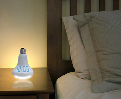 Unique Clock in the Sshape of a Lightbulb