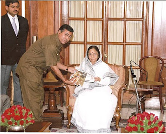 Deendayal sharma with President Pratibha Patil