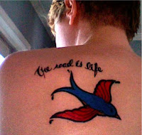 On The Road - Jack Kerouac tattoo