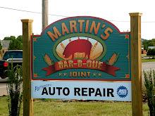 Martins BBQ Sign