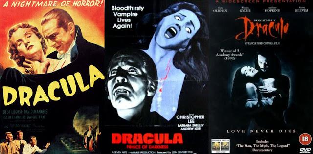 Drácula 1931 - Drácula 1966 - Drácula 1992