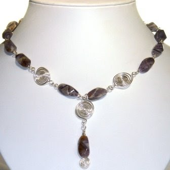 Charoite & Silver Necklace