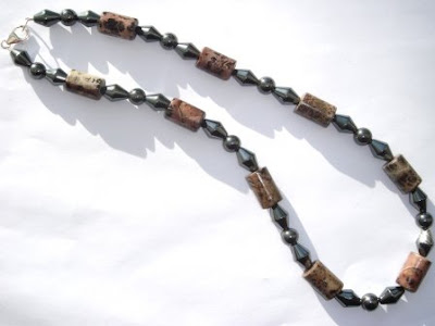 Picture Jasper & Hematite Necklace