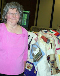 Elaine Forman at Johnston County Heritage Quilt Show