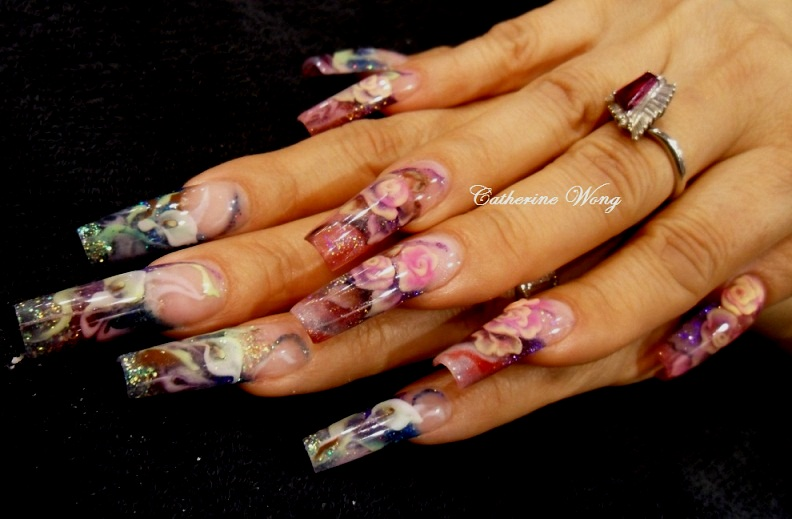 NAILQUEEN: Design Sculptured Nails Spring 2010