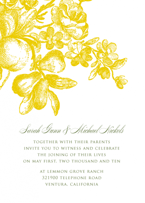 Wedding invitation templates yellow all the best ideas about marriage grey and yellow wedding invitations template best template collection pink street 042010 stopboris Image collections