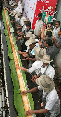World Largest Dosa by Sankalp Restaurant