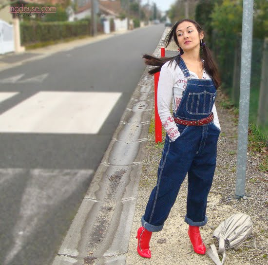 cute girls in overalls