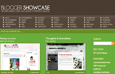 Blogger Showcase Listing