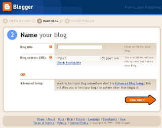 Choose an address for your blog