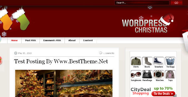 Magazine Christmas Theme Blogger Template