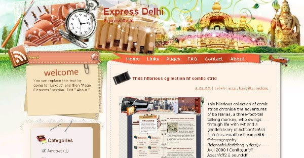 Best Delhi Blogger Templates