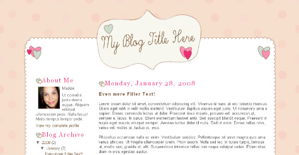 Best Love Blogger Templates