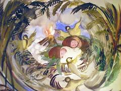Frusna småskrömt/akvarell