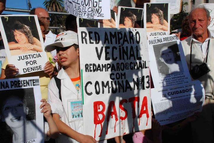 Marcha de Plaza de Mayo. Red Amparo y 30 Integrantes Presentes.