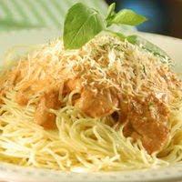 Espagueti Con Jitomate Y Crema