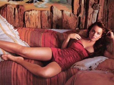 lindsay lohan sensual famosas sesion de fotos